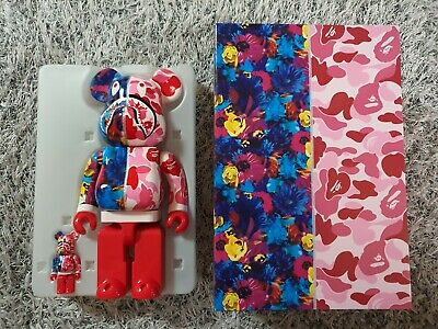 $719 • Buy BEARBRICK Bape Mika Ninagawa Shark 100%&400% BE@RBRICK Meadicom Toy