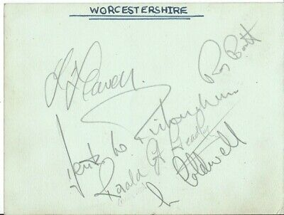 £14 • Buy Cricket, Worcestershire, Two Album Pages Hand Signed By 12 Mid-1950's Players