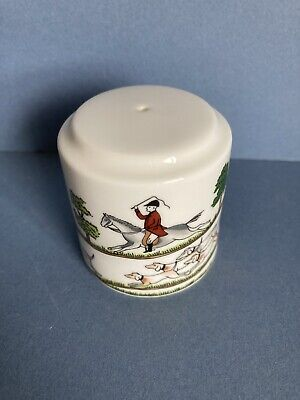 Coalport Hunting Scene Salt Pot • 20£