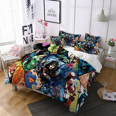 AU71.13 • Buy Superhero 3D Bedding Set Quilt Duvet Covers Pillowcases Wonder Woman Joker