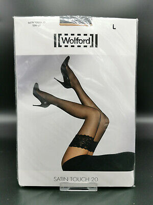 £17.23 • Buy Wolford Large Nylon Elasthan Knee-highs Kniestrümpfe SATIN TOUCH 20