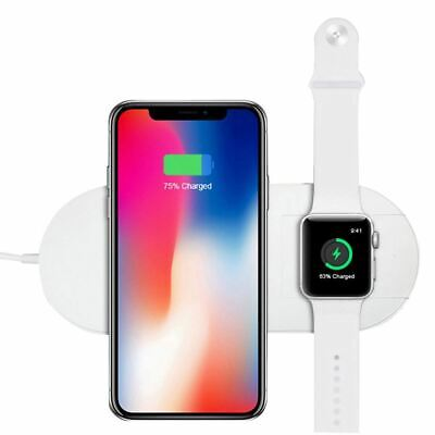 $ CDN14.95 • Buy Wireless Charger Stand 2 In 1 Charging Dock Apple Watch Series IPhone Station