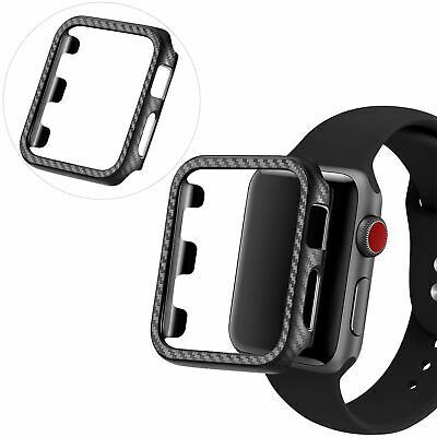 $ CDN4.98 • Buy For Apple Watch IWatch Series 6 SE 5 4 3 38/40/42/44mm Carbon Fibre Case Cover