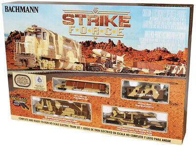 $169.99 • Buy Bachmann #752 Ho Scale Strike Force Complete Military Train Set New In Box