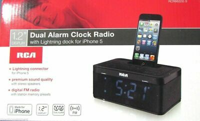 AU29.45 • Buy RCA Dual Alarm Clock Radio And IPhone Dock
