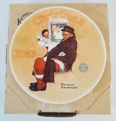 $ CDN24.30 • Buy Norman Rockwell Collectible Plate Santa In The Subway 1983