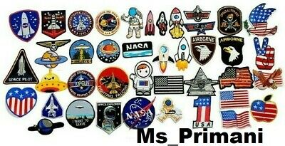 £1.85 • Buy Popular NASA AUSTRONAUT AIRFOR USA SPACESHIP FLAG Embroidered Iron /Sew On Patch