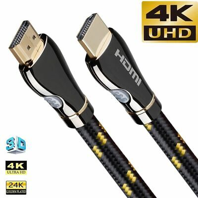 £13.68 • Buy HDMI Cable Audio Video 4K 120Hz For Samsung LG Sony TCL PS5 PS4 Splitter Lot