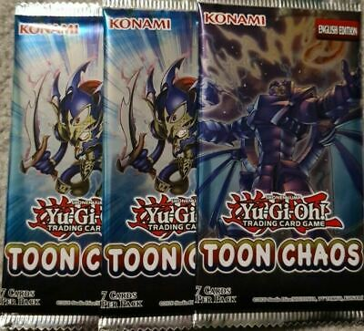 Yu-Gi-Oh! Toon Chaos Sealed Booster Packs Unlimited (3x Packs Supplied) - UK NEW • 9.85£