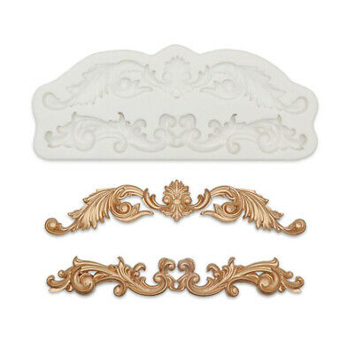 Vintage Baroque Relief Silicone Fondant Mould Cake Decorating Border Baking Mold • 4.25£