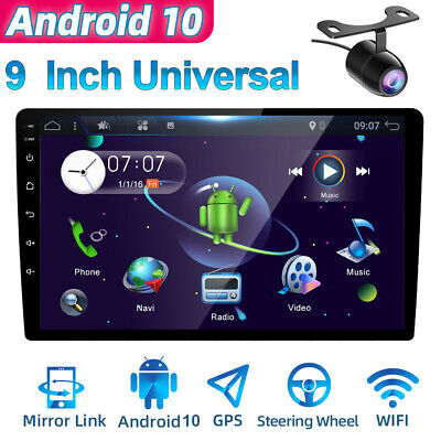 AU193.99 • Buy 9Inch IPS Android 10 Double 2DIN Car Stereo GPS NAVI Head Unit FM/AM 4G WiFi OBD