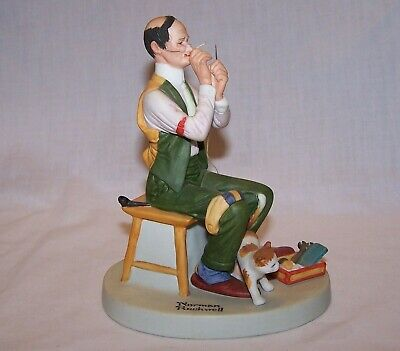 $ CDN5.09 • Buy The 12 Norman Rockwell Porcelain Figurines - Man Threading A Needle