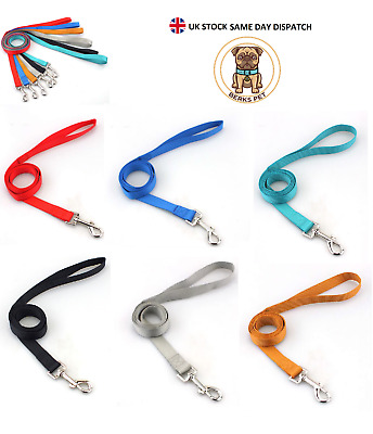 £3.79 • Buy Strong Dog Leads 1.2 Meter Dog Puppy Leash Durable Nylon Lead Training 4 Colours