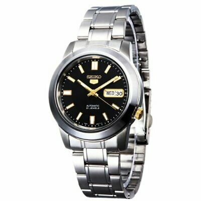 $ CDN127.73 • Buy Seiko 5 SNKK17 Automatic Black Dial Stainless Steel Mens Watch