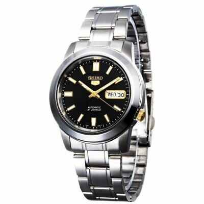 $ CDN127.16 • Buy Seiko 5 SNKK17 Automatic Black Dial Stainless Steel Mens Watch