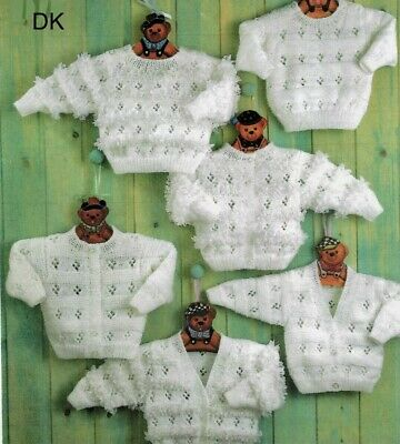 £2.79 • Buy Gorgeous Knitting Pattern For Baby Cardigans & Jumpers In DK PREM-2/3 YEARS A21