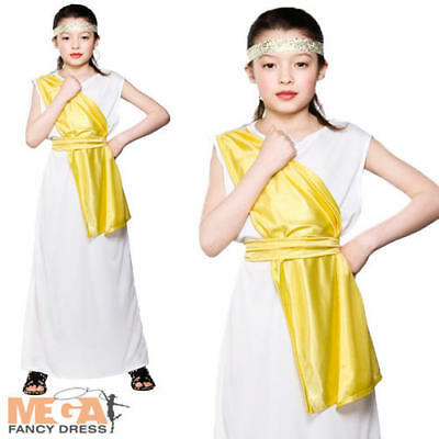 £11.99 • Buy Greek Girl Fancy Dress Up Roman Toga Grecian Childrens Costume Child Kids Outfit