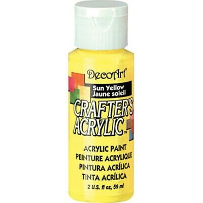 Paint Crafters Acrylic Sun Yellow 2oz • 1.80£
