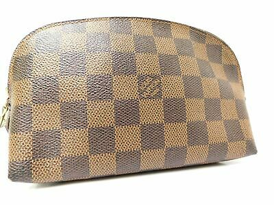 Louis Vuitton Damier Vanity Party Ivory Hand Bag Purse Cosmetic Case • 151.21£