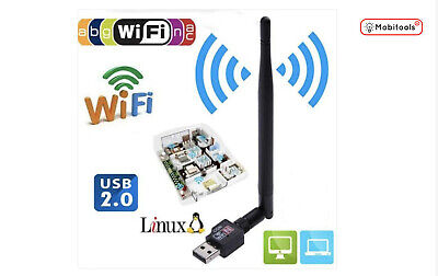 WiFi Dongle/Adapter 600 Mbps 2.40 Ghz USB Wireless 802.11 For Windows/Mac- UK • 5.55£
