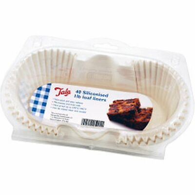 6x Tala Siliconised Greaseproof Loaf Tin Liners (Set Of 40) 1lb - 10A 05201 • 39.64£