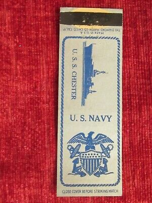 £3.95 • Buy Vintage WW2 U.S.S. Chester Navy Matchbook Cover Rare Fc74d
