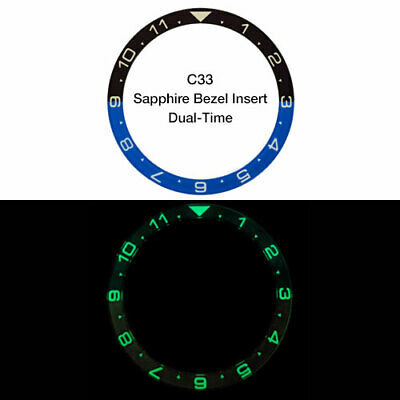 $ CDN74.99 • Buy DUAL-TIME, LUMINOUS SAPPHIRE BEZEL INSERT, SEIKO SKX Watches - SKX007, 009, 011