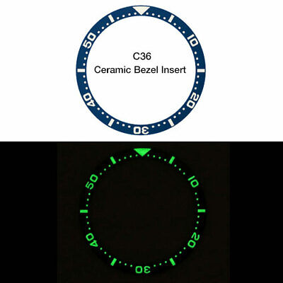 $ CDN56.24 • Buy DARK BLUE CERAMIC LUMINOUS BEZEL INSERT FOR SEIKO SKX Watches - SKX007, 009, 011