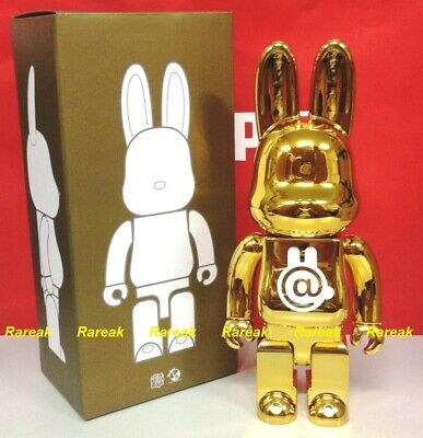 $197.99 • Buy Medicom Bearbrick Project Rabbit Rabbrick Chrome Gold 400% Be@rbrick R@bbrick