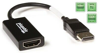 Plugable Active DisplayPort To HDMI 2.0 UHD Adapter (up To 4K 60Hz) • 6.99£