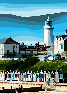 £15 • Buy Southwold Lighthouse And BeachLimited Print By Sarah Jane Holt
