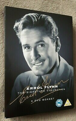 THE ERROL FLYNN SIGNATURE COLLECTION 6 Film Disc Box Set. Captain Blood. UK DVD • 14.99£