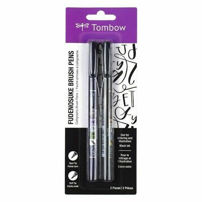 Tombow Fudenosuke Brush Pen - Black (2 Set)  • 7.89£