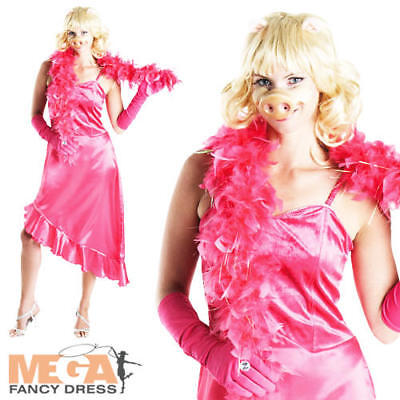 Miss Piggy The Muppets Ladies Fancy Dress Animal Puppet Womens Adult Costume New • 33.99£