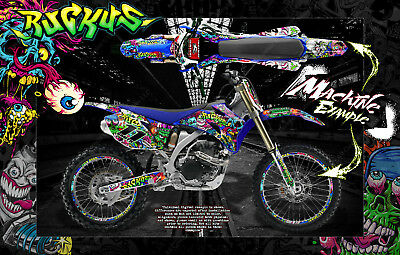AU272.65 • Buy 1998-2009 Yamaha Yzf250 Yzf450  Ruckus  Number Plate And Fender Wrap Decal Kit