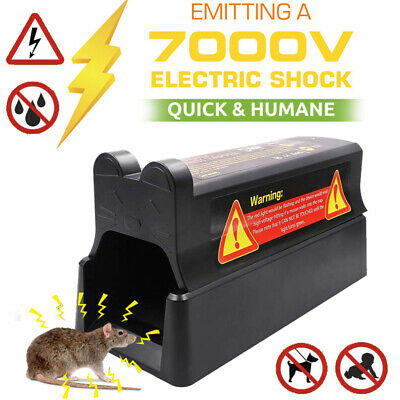 Electronic Rodent Zapper Humane Mouse Trap Rat Mice Killer Electric Pest Control • 26.99£