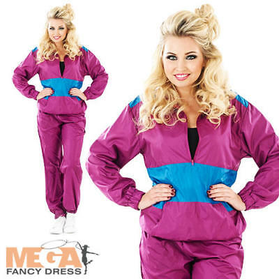 Shell Track Suit Ladies 1980s Fancy Dress Eighties Party Womens 80s Costume New • 18.99£
