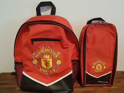 Official Manchester United Red And Black Backpack 17  + Shoe Bag • 15£