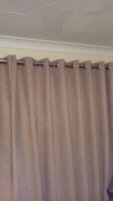 £18.99 • Buy Dunelm Mill Faux Suede Eyelet Curtains