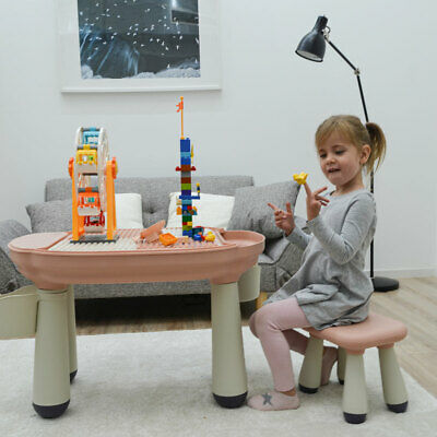3-in-1 Kids Play Table With Chair - Compatible To LEGO DUPLO - Children 1 Year + • 79.99£