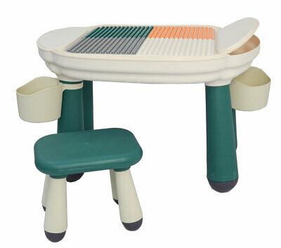 3-in-1 Kids Play Table With Chair - Compatible To LEGO DUPLO - Children 1 Year + • 74.99£