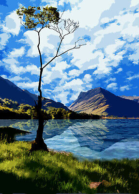 Buttermere Lake District  Limited Art Print By Sarah Jane Holt Large Version • 25£