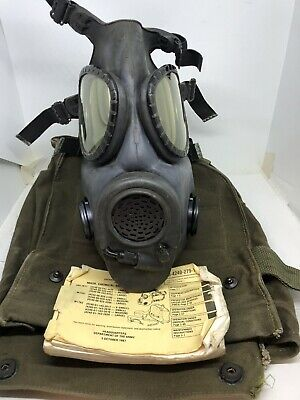 $99.99 • Buy M17 Chemical - Biological Field Mask Medium With Canvas Bag