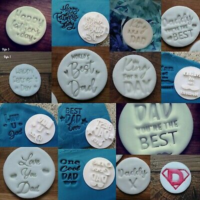 £9 • Buy Dad Birthday Stamp Embossing Cupcake And Cake, Stamps Fondant Father's Day