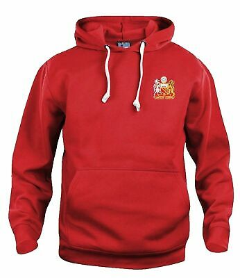 Manchester United 1970s Retro Football Hoodie Embroidered Crest S-XXXL • 29£
