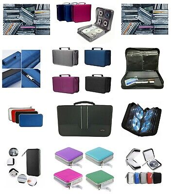 CD DVD Carry Case Disc Storage Holder CD Sleeve Wallet Holds 40 80 128 256 CD's • 6.19£