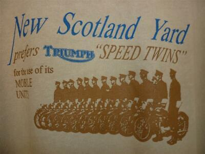 £16.50 • Buy Biker T-shirt Nos Triumph Speed Twin Police  - New Old Stock - X-large