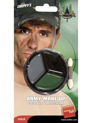 Unisex Army Make Up With Applicator Face Paint Camouflage Fancy Dress Accessory • 3.97£