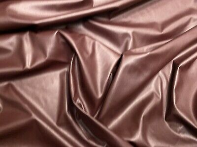Stretch Pvc Leather Look Jersey Fabric, Per Metre - Oxblood • 6.99£