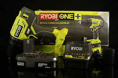RYOBI P215K 18-Volt ONE+ Lithium-Ion Cordless 1/2 In. Drill/Driver Kit • 52.42£